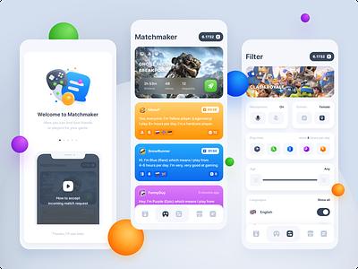 Vijo Matchmaker matchmaker game app sketch ios app design mobile design ios app mobile app app design uxdesign uidesign ux ui