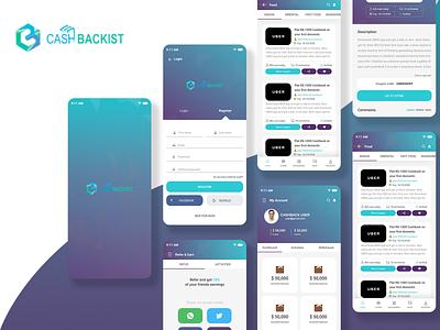 Cashbackist Affiliate Coupon Cashback Mobile App adobe xd reward cashback coupon affiliate marketing