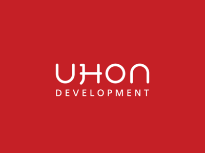 UHON Development - Logo design real estate property development wordmark logo design logo