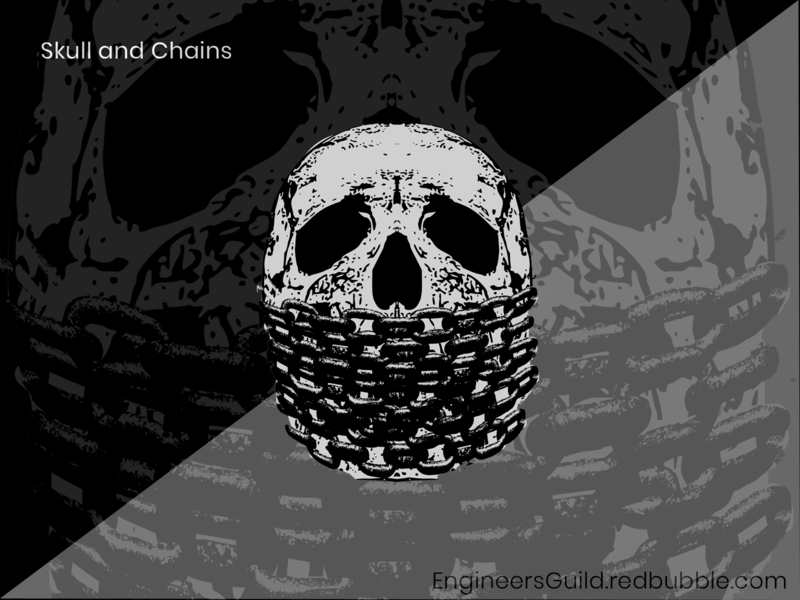 Skull and Chains design illustration freedom chains of freedom dark skull and chains fear freedomofspeech chains skull