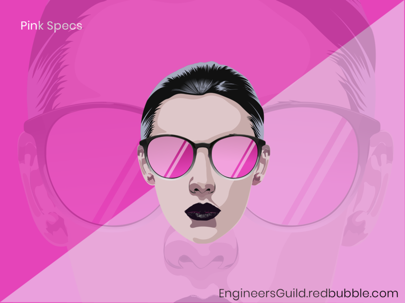 Girl with Pink Glasses vector art vector illustration illustration pink girl girl with pink girl glasses pink