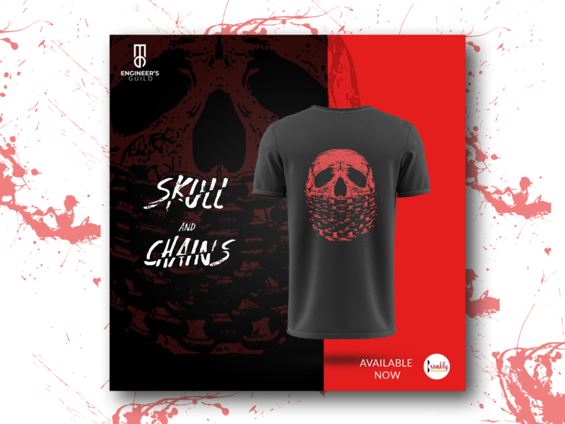 Skull and Chains poster design poster artwork poster digital marketing advertisement illustration art skull instragram post blood dark chains ad design poster design design