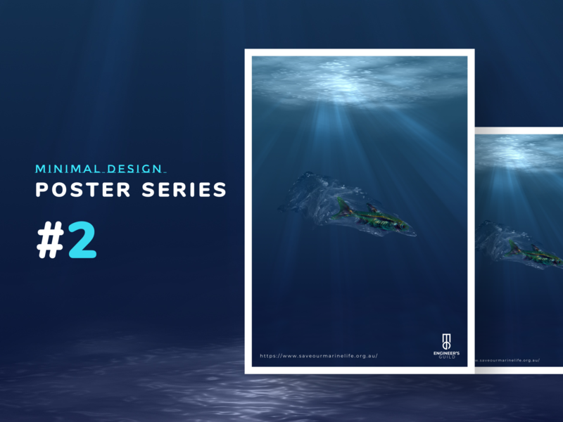 Poster design series - minimal #2 poster a day minimalist design minimalism minimal photoshop editing adobe photoshop photoshop posters poster designer poster art poster design marine life save marine life save the planet