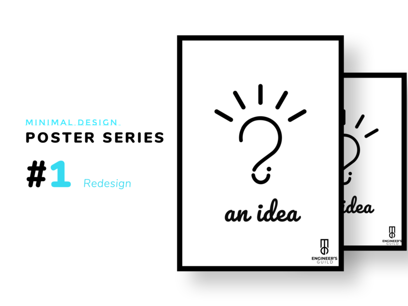 An Idea poster design simple design simple logo simple inkscape adobe photoshop photoshop minimalist logo minimalism minimalist minimal poster design poster a day poster art poster