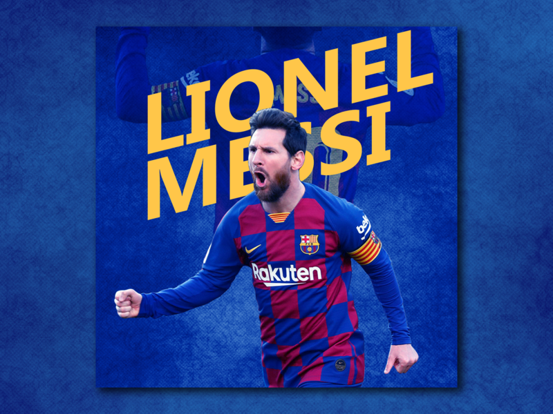 Lionel Messi simple poster football blue messi lionel messi edit lionel messi branding photoshop poster artwork adobe photoshop design poster a day poster design poster