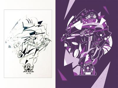 Sketch/Final work