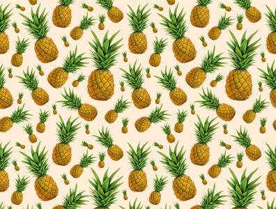 seamless pattern ananas