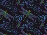 seamless pattern dragonfly_1