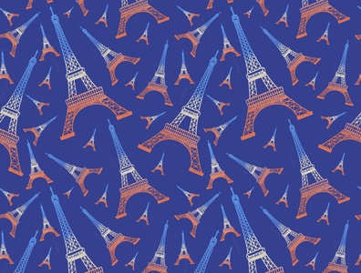 seamless pattern eiffel tower