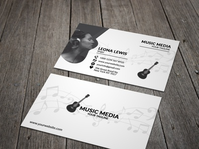 Music Business Card Design.