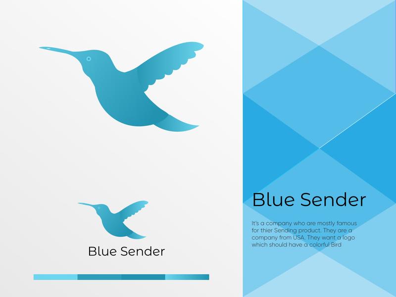 Blue Sender Logo design