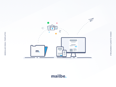 Illustration for Mailbe illustration templates email mail