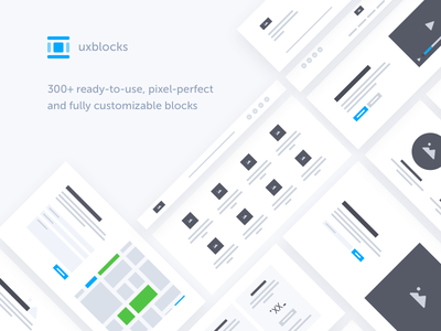 uxblocks web clean minimal wireframe prototype ui ux