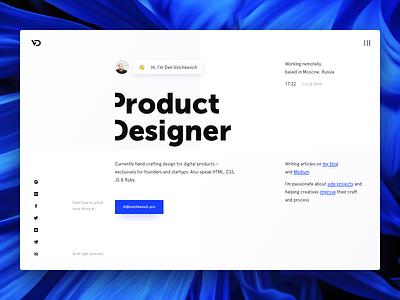 Personal website product ux ui grids design
