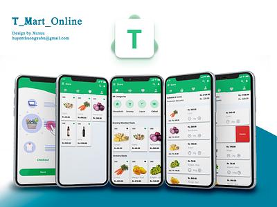 T mart online app logo ux design illustration ui