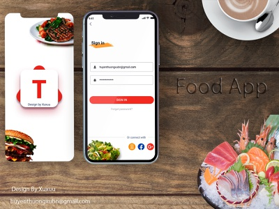 Food App ux ui design illustration app