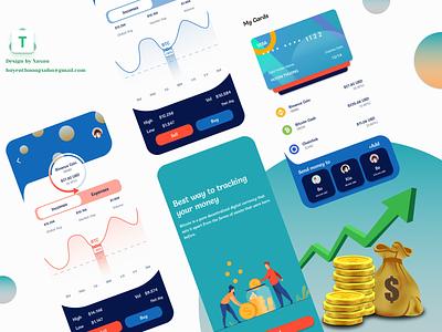 Bitcoin mobile app ux ui design app