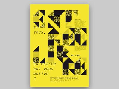 Entrée Libre motif trame typographie poster affiche