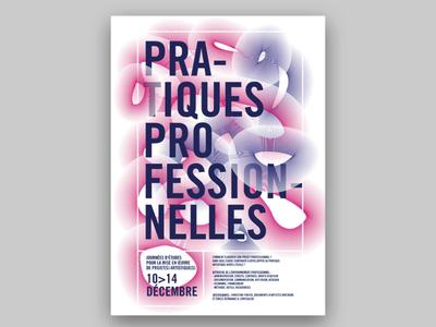 Pratique Professionnelles trame typography poster affiche