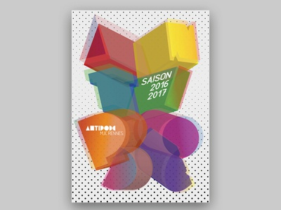 Programme Antipode 2016-17 color trame antipode typo3d typo3d typographie coverdesign programme