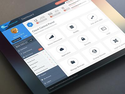 Cloud Control Panel ui ux design webdesign control panel admin dashboard