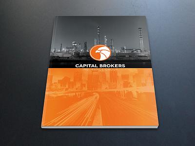 Catalogue Cover catalogue cover folder logo orange eagle brand print