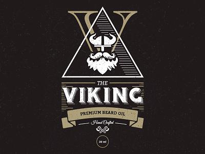 Viking Beard Oil oil dark white gold flat brand viking beard label