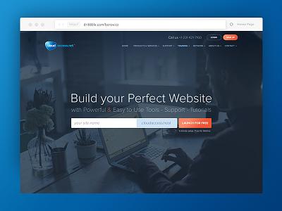 Front Page Banner Redesign hosting web design redesign website webdesign