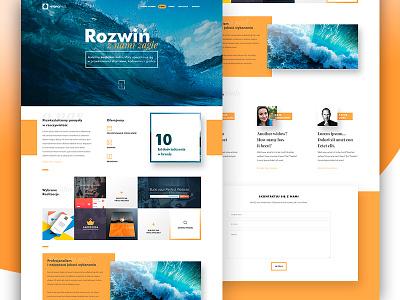 Creative Agency minimalistic www website design web page landing