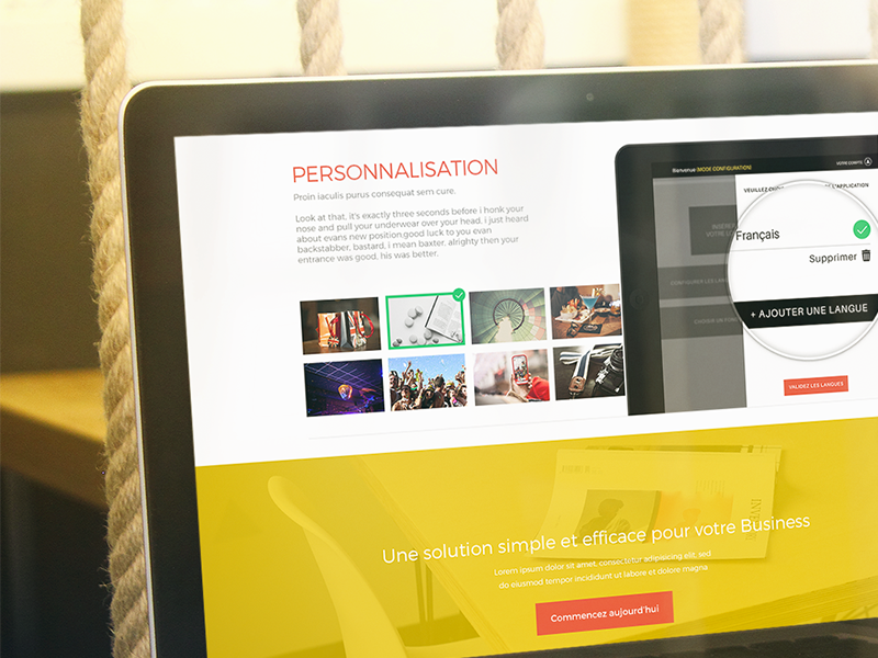 Tastify - Landing Page flat startup app ipad tastify