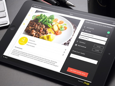 Tastify iPad app ui review food app ipad