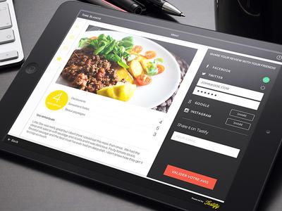Tastify iPad app ui review food app ipad