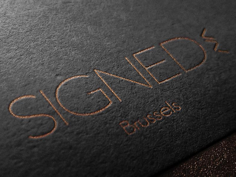 Signed logo