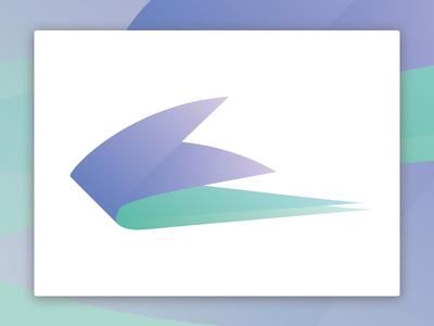 The bird minimal gradient bird logo