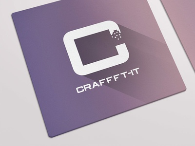 Craffft-IT - Business Card business card long shadow gradient flat logo