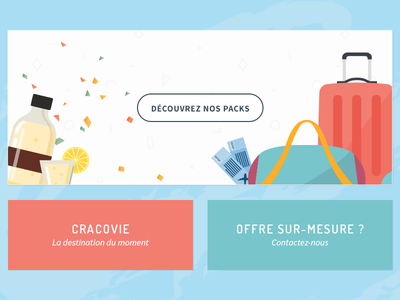 Citytrip flat party travel mockup