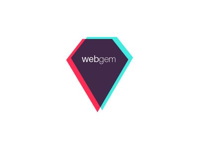 webgem - logo refresh web agency belgium tricolor logo