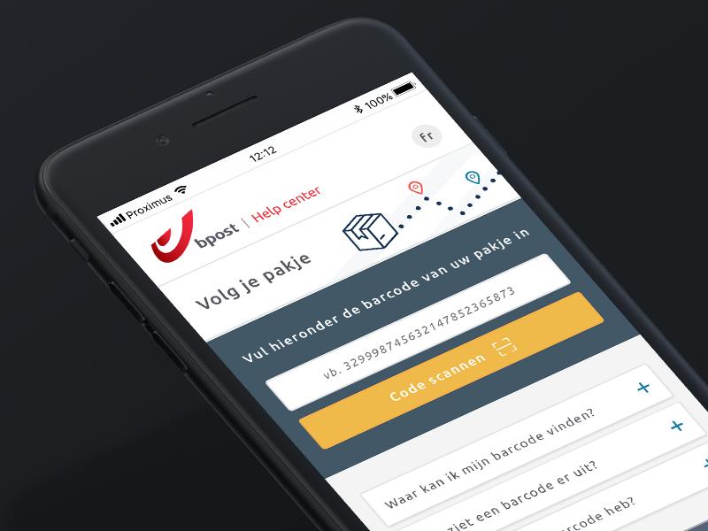 WIP - Visual IVR solution iphone ui mockup user inteface ui design app concept design clean customer care postal service belgium app mobile