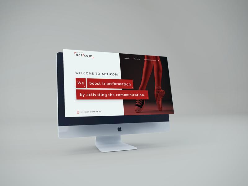 Acticom onepage ux belgium communication ui design