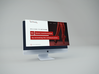 Acticom onepage ux belgium communication ui design