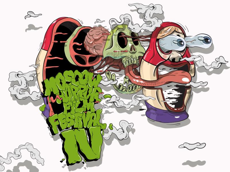Horror Show illustration vector art poster
