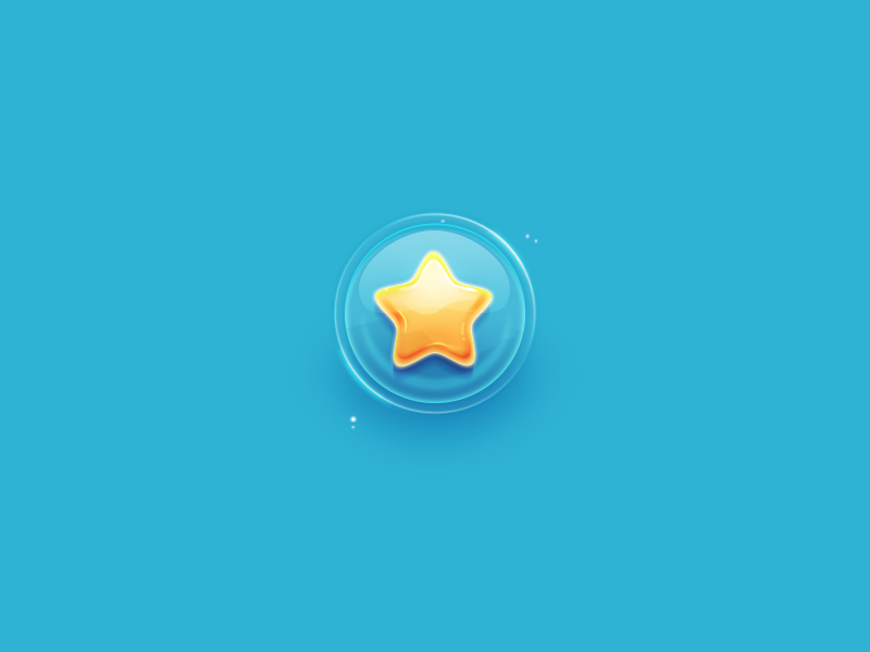 Star design ipad character illustration interface ios game bubble star