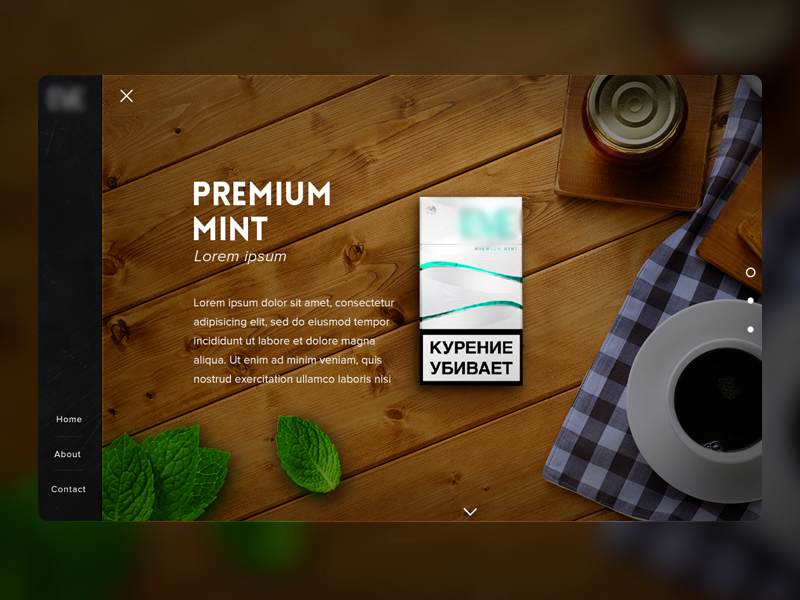 Product page ui web clean minimal coffee grid homepage product marketing mint wood menu