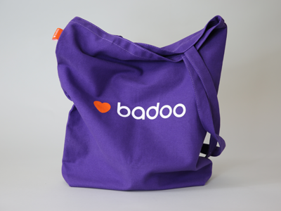 Badoo identity logo typography stationary brand identity orange badoo purple brandbook guidelines