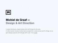 michieldegraaf.com