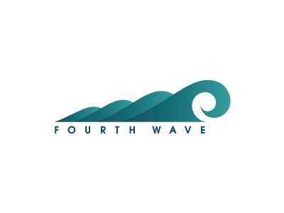 4th Wave wave logo identity