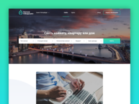 Landing page for the finding housing servise