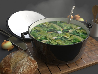 Some nice kale stew to break up the flow stew kale