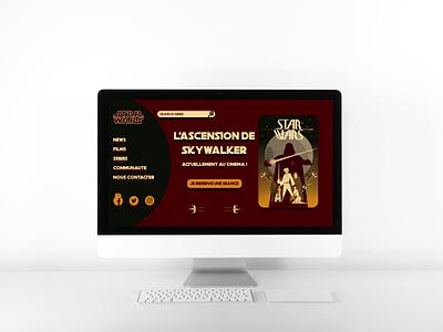 Star Wars   UX & UI web website branding ux ui design illustration