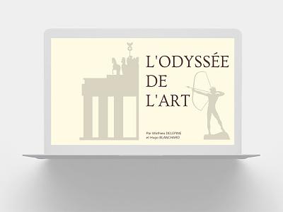 L'Odyssée de l'Art   Musée Virtuel art illustrator website ux ui branding typography web illustration design
